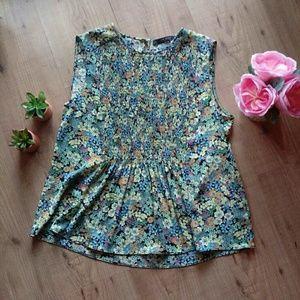 ZARA floral print sleeveless top size L
